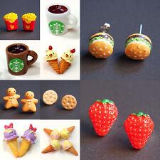 1PC Lady Fashion Lovely Cute Food Fruit Resin Pin Stud Earrings Stud 10 Styles