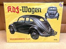 Volkswagen Beetle VW Metal Tin Wall Sign KDF 1938 Shed Garage Man Cave New