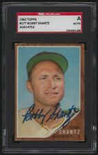 1962 Topps #177 BOBBY SHANTZ Autograph Signed Baseball Card SGC AUTHENTIC