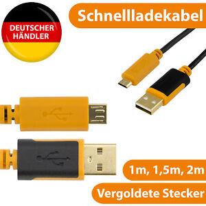 Micro USB Kabel Schnell Ladekabel Handy Datenkabel Typ B auf USB A 1m 1,5m 2m