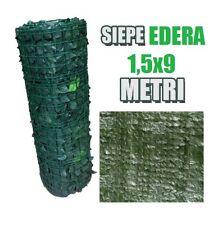SIEPE ARELLA SINTETICA ARTIFICIALE STUOIA FINTA FOGLIA EDERA LAURO 1,5x 9 METRI
