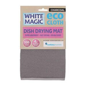 White Magic Eco Cloth Dish Drying Mat Charcoal Grey Brand New