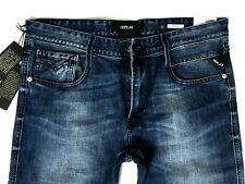 Replay Jeans ANBASS W31/L34 12,oz deep indigo stretch denim Herrenjeans blau