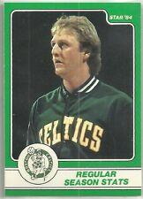 LARRY BIRD 1984 STAR COMPANY Boston Celtics BASKETBALL CARD #4