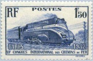 EBS France 1937 Railway Congress - Streamlined steam locomotive YT 340 MH*