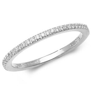 Ladies 18ct White Gold 29-Stone Diamond Claw Set Band Half Eternity Ring