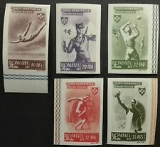 ROMANIA-RUMUNIA STAMPS MNH - Sports,1945,**, imperforated
