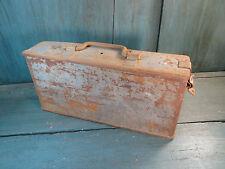 ancienne boite a outil  métal fer casier caisse industriel meuble metier loft