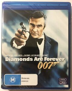 Diamonds Are Forever James Bond 007 Blu-ray. New & Sealed. Sean Connery.
