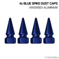 4x Blue Spike Car Bike Motorcycle BMX Wheel Tyre Valve Aluminium Dust Caps