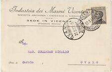 VICENZA - INDUSTRIA DEI MARMI VICENTINI 1927