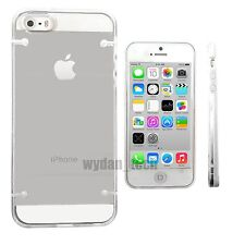 For iPhone 5 5S SE Case Clear Transparent Frame Bumper Slim Phone Cover
