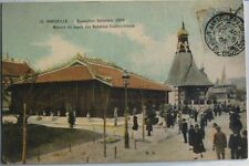 MARSEILLE EXPOSITION COLONIALE 1906 MAISON NOTABLES COCHINCHINOIS CARTE POSTALE