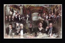 Mafia, Scarface, Sopranos Home Decor Canvas Print A4 size (210 x 297mm)