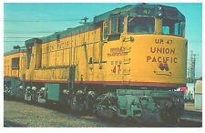 POSTCARD US TRAIN - GIANT U-BOAT - UNION PACIFIC TWIN-ENGINE U50