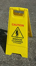 Floor Sign Window Cleaning in Progress Safety Hazard A Frame Warning Wet Cleaner