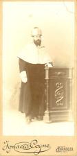 Ignacio Coyne, Zaragoza, Portrait d'homme  Vintage citrate print. Carte cab
