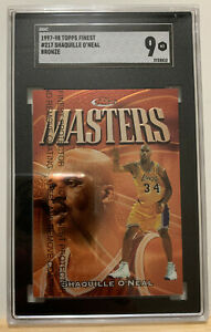 1997-98 TOPPS FINEST SHAQUILLE O'NEAL BRONZE MASTERS SGC 9