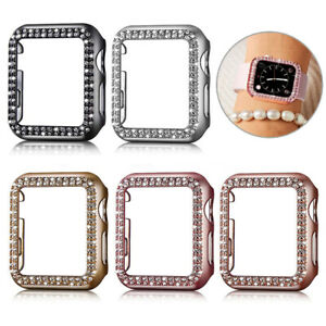 Crystal Diamond Watch Cover Case Protector For Apple iWatch Series SE 7/6/5/4/3