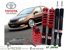 TOYOTA VIOS 2003 - 2007  D7 JAPAN ADJUSTABLE COILOVER HIGH LOW SOFT HARD