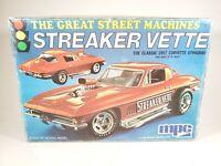MPC STREAKER VETTE 1967 CORVETTE STINGRAY MODEL KIT 1/25 SCALE - STARTED/OPEN