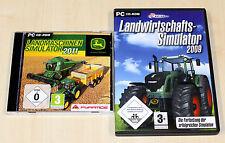 PC SPIELE SAMMLUNG LANDMASCHINEN SIMULATOR 2011 & LANDWIRTSCHAFTS 2009 - agrar