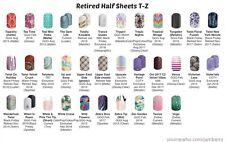 Jamberry Nail Wraps Half Sheet Retired T-Z - In Stock!