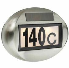 Solar Hausnummer Beleuchtung Hausnummernleuchte Lampe beleuchtet LED Edelstahl