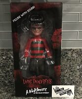 MEZCO TOYZ LIVING DEAD DOLLS NIGHTMARE ON ELM STREET FREDDY KRUEGER BOX DAMAGE