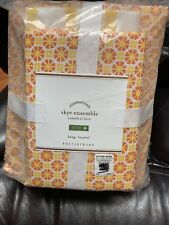 Pottery Barn Skye Geo Motif Duvet Cover Sheets Shams King Spring Yellow Orange