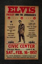 Elvis Tour Poster 1957 Chicago