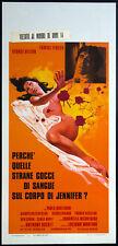 CINEMA-locandina PERCHE' QUELLE STRANE GOCCE DI SANGUE...fenech, CARNIMEO