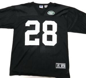 Curtis Martin New York Jets Jersey Starter Mens 48 Large Black #28 Vintage VTG