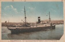 "*Postcard-""Philippeville...Governor General Lepine Coming from Marseille"""