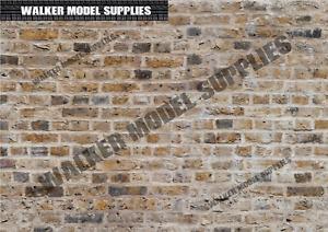 1:6 scale (3xA4) Brick wall - Peel and Apply sticker/ diorama model 7