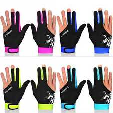 High Quality 3Cue Finger Spandex Snooker Billiard Glove Pool Right Left Hand M/L