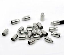 20 x END BEAD CAPS TIPS 3mm for KUMIHIMO  Bracelets & Necklaces SILVER TONE