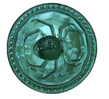 Antique Victorian Hatpin Long Green Pressed Glass Spider