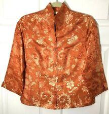 Connie Roberson Women's Embroidered Silk Blend Asian Blazer Jacket, Size S