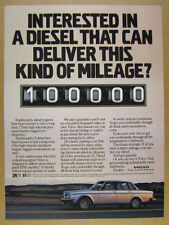 1982 Volvo GL Diesel Sedan car photo vintage print Ad