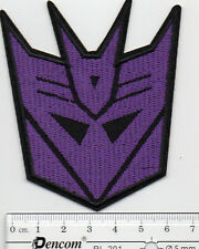 kiTki Transformers Decepticon iron-on embroidered patch emblem applique knit