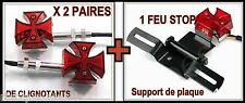 tail licht + 2 paar turn signal Malteser Cross NEU ( motorrad custom harley )
