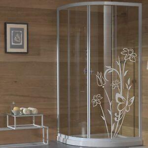wall stickers adesivo adesivi fiori vetri box doccia decorazione bagno a0133