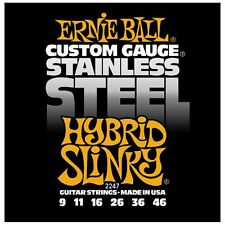 Ernie Ball 2247 Stainless Steel Hybrid Slinky Electric Guitar Strings 9-46