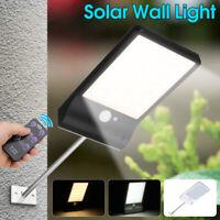 48LED Solar Wall Light Human Induction Street Flood Lamp IP6+Remote Control