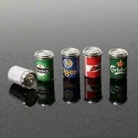 5x Kinds Beer Cans Drinking Bar Beer 1:12 Dollhouse Miniature Kids Fun Toys L0Q6