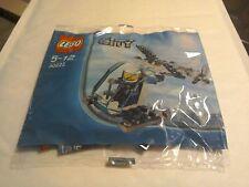 Lego City Helicóptero De Policía Con policía Minifigura 30222 Bolsa De Polietileno Nuevo Sellado