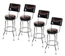 Harley-Davidson Bar & Shield Bar Stool With Back Rest HDL-12204 SET OF 4