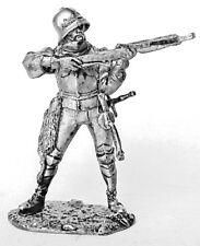 Tin toy soldier European crossbowman. Metall sculpture 54 mm