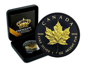 1 OZ Silber Maple Leaf Canada 2020 Gold Black Empire Edition New